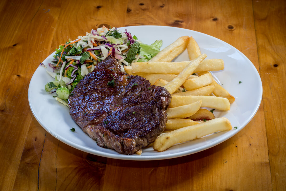 Angus Ribeye At Waterfront Bar And Grill In Blenheim
